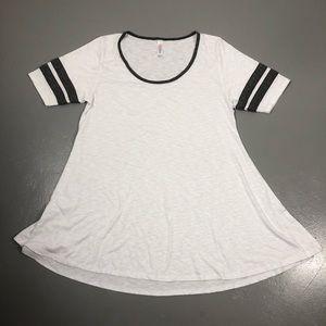 Lularoe Perfect T white & gray tunic top